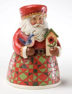 Christmas: Jim Shore 'Cozy Christmas' Mini Santa