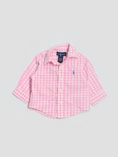 ralph lauren gingham baby button-down - $17