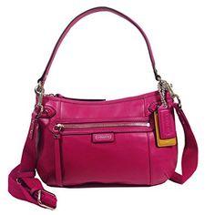 Coach Daisy Leather Hobo Crossbody Bag 23978 Bright Magenta Review