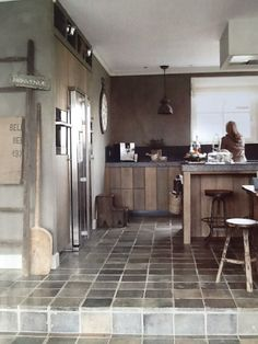 robuuste eiken houten keuken color by gritti van carter colori wonen landelijke stijl keukeneetkamer