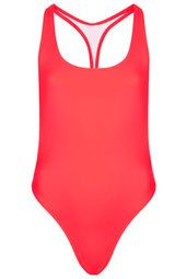 **Red Racerback Swimsuit by ASHISH X Topshop