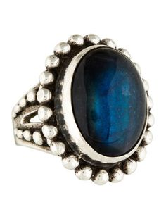 Stephen Dweck Sterling Labradorite Cocktail Ring