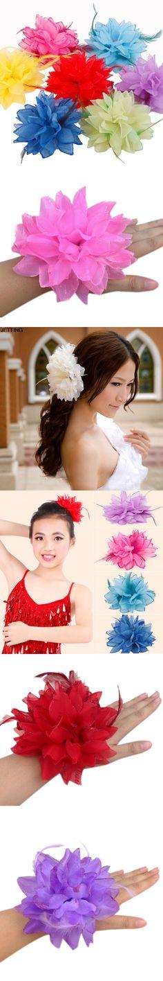 New Arrival Summer Style Hair Accessories Flower Elastic Head Rope Wrist Cuff Wedding Bridal Corsage