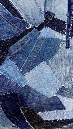 Denim Patchwork Bag / Jeans Patchwork Tote / Used Denim Handbag / Vintage  Jeans Bag / Patched Blue Jeans Bag / Boro Bag / Recycled Denim Bag