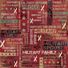 Military Family Collage Scrapbook Paper
