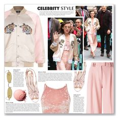 """Millie Bobby Brown - Celebrity Style"" by myduza-and-koteczka ❤ liked on Polyvore featuring VIVETTA, Sophia Webster, Miss Selfridge, Anja and Gentle Monster"