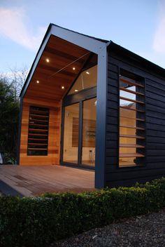 Sips Panels, Cedar Cladding, Modern Barn House, Weekend House, Cabana, Backyard Sheds, A Frame House, Tiny House Cabin, Facade House