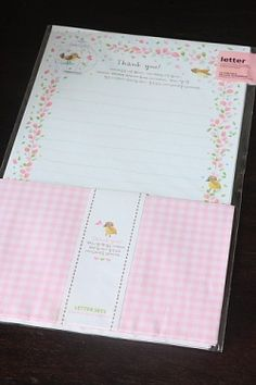Kawaii Letter Set - Thank you
