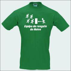 T-shirt Equipa de Resgate do Noivo. Para mais detalhes: http://lastpartyshirt.com/homens/11/noivo-em-fuga/