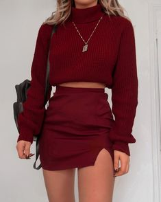 20 Comfy Sweaters To Get Through a Chilly Winter Cute Comfy Outfits, Mode Outfits, Retro Outfits, Girly Outfits, Stylish Outfits, Classy Outfits For Teens, Dress Outfits, Winter Fashion Outfits, Look Fashion
