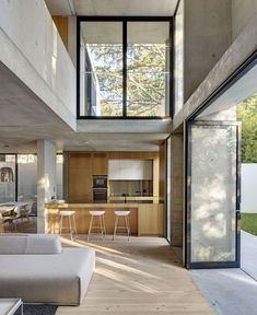 Interior at two-story annex designed by Australian studio Nobbs Radford Architects.