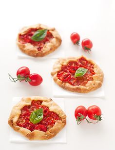 mini galettes de tomate