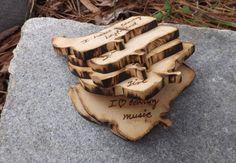 Set of 25 Cowboy Boot Shaped Rustic Wood by BVDesignsonline, $29.90