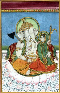 Shri Ganesha with His Shakti