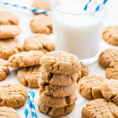 These classic Peanut Butter Cookies are simple to make and you always end up with delicious, soft and chewy cookies.