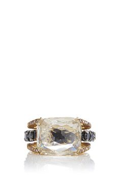Gold Briolette And Diamond Ring  by VBH (=)