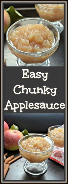You won't believe how easy it is to make your very own Easy Homemade Chunky Applesauce. I guarantee you'll never buy commercial again!