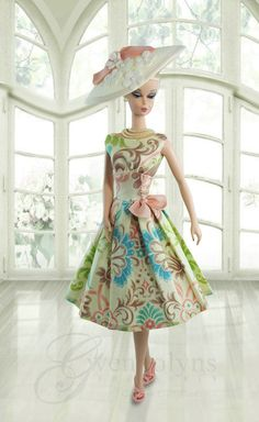 Tea in the Afternoon Fashion Royalty Dolls, Fashion Dolls, Girl Fashion, Vestidos Vintage, Vintage Gowns, Hollister Style, Barbie Wardrobe, Vintage Barbie Clothes, Doll Clothes