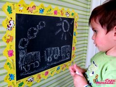 Playroom - contact paper chalkboard