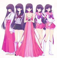 Top to bottom: Hino Rei (火野 レイ)/Sailor Mars (セーラーマーズ) and Jadeite (ジェダイト). Sailor Mars, Sailor Jupiter, Sailor Venus, Arte Sailor Moon, Sailor Moon Fan Art, Sailor Moon Character, Sailor Mercury, Sailor Moon Crystal, Sailor Scouts
