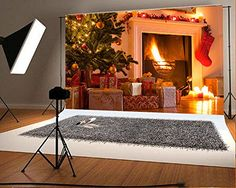 Christmas gift Photo Backgrounds Wrinkle free White Fireplace Candle Santa's Socks Green Christmas Tree Wood Floor Photography Backdrops for Child Christmas Photography Backdrops, Christmas Backdrops, Photo Backdrops, Candles In Fireplace, White Fireplace, Family Christmas, Christmas Gifts, Christmas Tree, Green Christmas