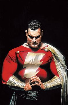 My name is Billy Batson. Let's see if I can find a better picture… SHAZAM! That is the original Captain Marvel (now known as Shazam for various complicated and gener. Marvel Dc Comics, Ms Marvel, Math Comics, Dc Comics Art, Marvel Art, Alex Ross, Comic Book Artists, Comic Artist, Comic Books Art