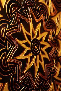 boho mandala on the mirror by Ana Tomova