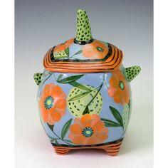 Covered Jar Floral. by nancyandburt on Etsy, $68.00
