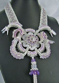 Anna's Snowrose by Social Butterfly Jewellery, via Flickr