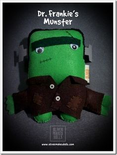 ~ ooh so cute little green man - it's Dr. Frankie's Munster from Oliver Makes Dolls ~