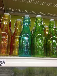 Tinted glass bottles