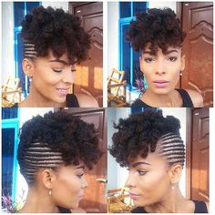 Small Cornrows Updo