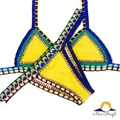 The crochet bikini we love available in Brazil's Flag colors Brazil Flag, Brazilian Swimwear, Flag Colors, Crochet Bikini, Bathing Suits, Instagram Posts, Outfits, Design
