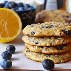 You Can Make These Oatmeal Protein Cookies In 20 Minutes Flat Healthy, protein packed oatmeal cookie recipe. Oatmeal Protein Cookies, Blueberry Oatmeal Cookies, Protein Rich Snacks, Oatmeal Cookie Recipes, Healthy Cookies, Healthy Treats, Healthy Desserts, Healthy Recipes, Healthy Protein
