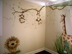 monkey mural by concetta