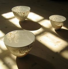 Stunning translucent rice grain ceramics from Finish ceramicist Eeva Jokinen