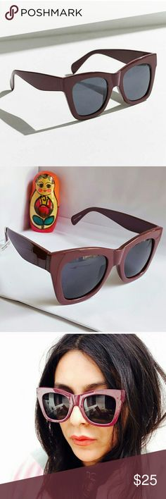 Urban Outfitters Eggplant Sunglasses Brand new! Tags have been taken off but never worn. Urban Outfitters Accessories Sunglasses