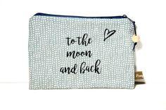 Schminktäschchen - Täschchen / Schminkbeutel ♥to the moon and back♥ - ein Designerstück von PamyLotta bei DaWanda