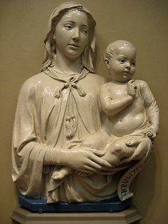 Luca della Robbia Madonna and Child with Scroll  #TuscanyAgriturismoGiratola
