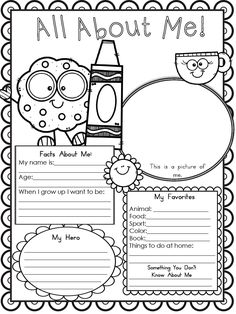 Free Printable All About Me Worksheet - Modern Homeschool Family