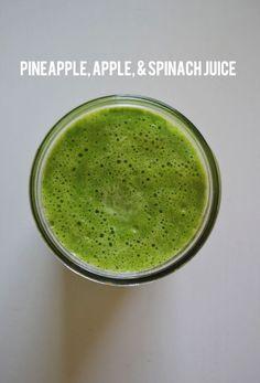 pineapple, apple, & spinach juice