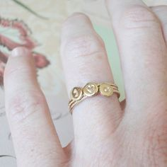 Stacking Initial Gold-Filled Rings J <3 C! What are the odds?