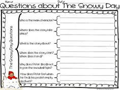 Classroom Freebies: The Snowy Day - Questioning