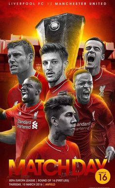 It's match day Reds! Liverpool vs the Mancs at Anfield. YNWA