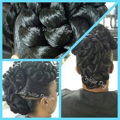 #protectivestyles #blackhair #NaturalHair #braids #bun #hairstyles #hair #UpDo #weddinghair Lovely Willie Day Spa And Salon 205 West Bayshore Blvd Jacksonville NC Call 910-381-9114