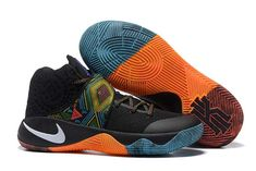 "new products d5513 0ad5a Shop Nike Kyrie 2 ""BHM"" Black Multi-Color Multi-Color Cheap To Buy black,  grey, blue and more."