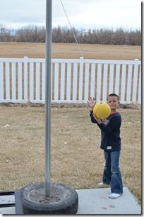 Tetherball in the driveway :-)
