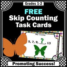FREE Download Skip Counting by 2's Task Cards Math Games &