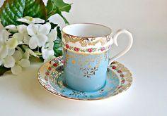 Royal Albert Mug and Saucer Belvedere Series Turquoise Teapots And Cups, Teacups, China Tea Cups, Tea Service, China Patterns, Tea Cup Saucer, Vintage Tea, Drinking Tea, Tea Time