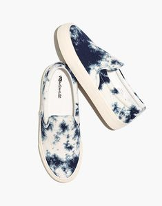 Sidewalk Slip-On Sneakers in Tie-Dyed Recycled Canvas in pearl ivory multi image 1 Tie Dye Shoes, How To Dye Shoes, Stylish Boots, Comfortable Flats, Boot Shop, Tie Dyed, Walk On, Slip On Sneakers, Trendy Outfits
